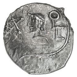 HIMYARITE: 'Amdan Bayyin, ca. 100-125 BC, AR unit (1.19g), Raidan. EF