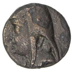 PARTHIAN KINGDOM: Arsakes I, c. 238-211 BC, AE dichalkon (2.49g). F