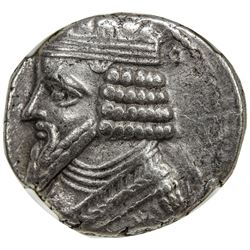 PARTHIAN KINGDOM: Gotarzes II, ca. 44-51 AD, AR tetradrachm, Seleukeia on the Tigris. VF