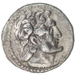 PTOLEMAIS: Ptolemy VI Philometer, 180-145 BC, AR didrachm (6.65g), Tyre, ND. VF