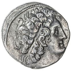 PTOLEMAIS: Ptolemy X, sole reign, 101-88 BC, AR tetradrachm (13.37g), Paphos, year 14. VF