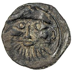HUNNIC: Sri Shahi, probably 6th century, AE unit (0.78g). VF-EF