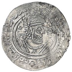WESTERN TURKS: Phromo Kesaro, 7th century, AR drachm (3.14g), blundered mint, ND. VF