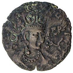 TURK SHAHI KINGS of Kabul & Gandhara: Shah Tegin, ca. 700+-, BI drachm (2.69g). VF