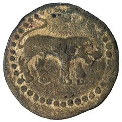 WESTERN TURKS: Anonymous, ca. 6th-7th century, AE unit (2.56g). F-VF