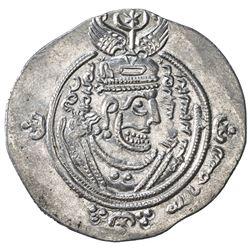 ARAB-SASANIAN: 'Abd Allah b. al-Zubayr, 680-692, AR drachm, DA+GH (Jahrum), YE60. VF