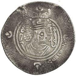 ARAB-SASANIAN: al-Hajjaj b. Yusuf, 694-713, AR drachm (3.45g), ART (Ardashir Khurra), AH80. VF