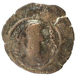 ARAB-SASANIAN: 'Udayy (b. Artah), ca. 718-720, AE pashiz (2.79g), NM, ND. F