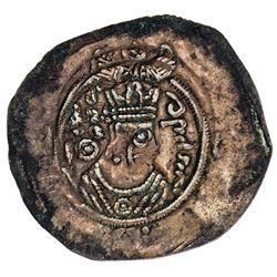 ARAB-SASANIAN: Farrukhzad, ca. 695-699, AE pashiz (0.74g), Ardashir Khurra, ND. VF