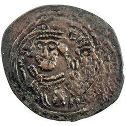 ARAB-SASANIAN: Anonymous, ca. 690-710, AE fals (0.66g),