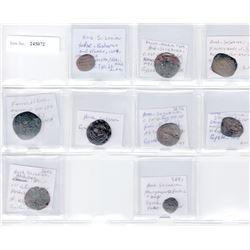 ARAB-SASANIAN: LOT of 9 copper coins