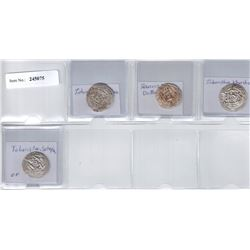 TABARISTAN: LOT of 4 silver hemidrachms