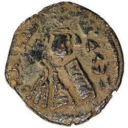 ARAB-BYZANTINE: Imperial Bust, ca. 680-692, AE fals (3.50g), Tardus (Antardus), ND. VF