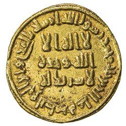UMAYYAD: 'Abd al-Malik, 685-705, AV dinar (4.26g), NM (Dimashq), AH79. EF