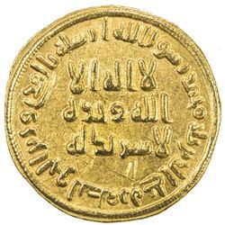 UMAYYAD: 'Abd al-Malik, 685-705, AV dinar (4.24g), NM (Dimashq), AH79. EF