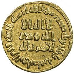UMAYYAD: 'Abd al-Malik, 685-705, AV dinar (3.94g), NM (Dimashq), AH80. VF