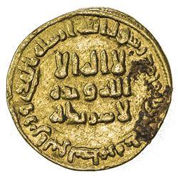 UMAYYAD: 'Abd al-Malik, 685-705, AV dinar (4.21g), NM (Dimashq), AH82. VF