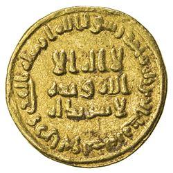 UMAYYAD: 'Abd al-Malik, 685-705, AV dinar (4.23g), NM (Dimashq), AH82. VF
