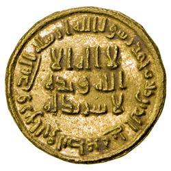 UMAYYAD: 'Abd al-Malik, 685-705, AV dinar (4.26g), NM (Dimashq), AH83. EF