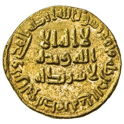 UMAYYAD: 'Abd al-Malik, 685-705, AV dinar (4.27g), NM (Dimashq), AH84. EF-AU