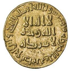 UMAYYAD: 'Abd al-Malik, 685-705, AV dinar (4.23g), NM (Dimashq), AH84. EF