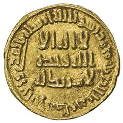 UMAYYAD: al-Walid I, 705-715, AV dinar (4.21g), NM (Dimashq), AH88. VF