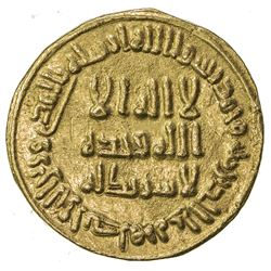 UMAYYAD: al-Walid I, 705-715, AV dinar (4.24g), NM (Dimashq), AH90. EF