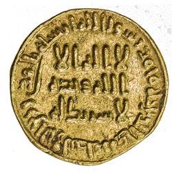 UMAYYAD: al-Walid I, 705-715, AV dinar (4.18g), NM (Dimashq), AH90. VF-EF