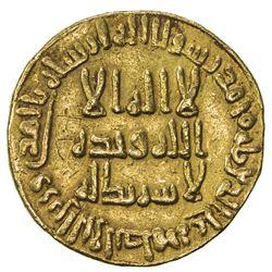 UMAYYAD: al-Walid I, 705-715, AV dinar (4.21g), NM (Dimashq), AH91. VF