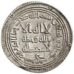 UMAYYAD: al-Walid I, 705-715, AR dirham (2.96g), Surraq, AH93. EF