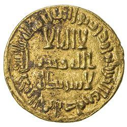 UMAYYAD: Sulayman, 715-717, AV dinar (4.27g), NM (Dimashq), AH97. EF