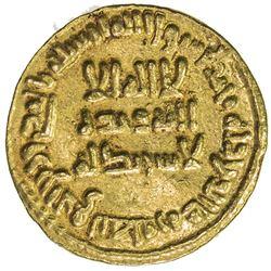 UMAYYAD: Sulayman, 715-717, AV dinar (4.24g), NM (Dimashq), AH97. EF