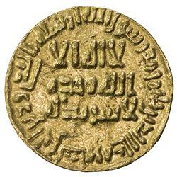 UMAYYAD: Sulayman, 715-717, AV dinar (4.22g), NM (Dimashq), AH99. EF