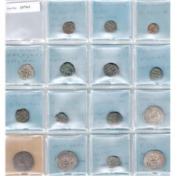 UMAYYAD: LOT of 4 silver and 11 copper coins