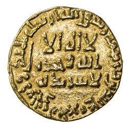 ABBASID: al-Mansur, 754-775, AV dinar (4.23g), NM, AH137. VF
