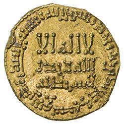 ABBASID: al-Mahdi, 775-785, AV dinar (4.05g), NM, AH167. EF