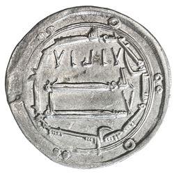 ABBASID: al-Mahdi, 775-785, AR dirham (2.90g), Sijistan, AH166. VF