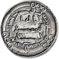 ABBASID: al-Hadi, 785-786, AR dirham (2.62g), Harunabad, AH169. VF