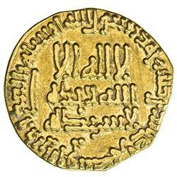 ABBASID: al-Rashid, 786-809, AV dinar (3.88g), NM (Madinat al-Salam), AH186. VF