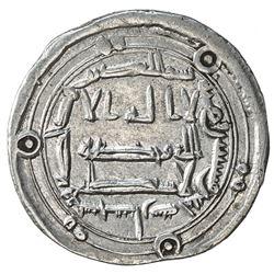 ABBASID: al-Rashid, 786-809, AR dirham (2.97g), Sijistan, AH175. VF