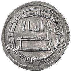 ABBASID: al-Rashid, 786-809, AR dirham (2.70g), Arran, AH187. EF