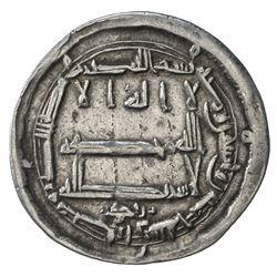 ABBASID: al-Amin, 809-813, AR dirham (2.94g), Arran, AH195. VF