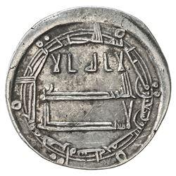 ABBASID: al-Amin, 809-813, AR dirham (2.72g), Herat, AH195. VF