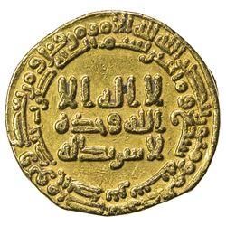 ABBASID: al-Ma'mun, 810-833, AV dinar (4.09g), NM, AH207. VF