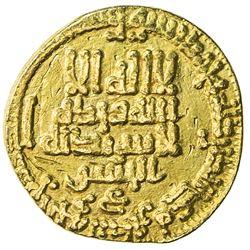 ABBASID: al-Ma'mun, 810-833, AV dinar (3.78g), NM, AH200. VF-EF
