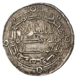 ABBASID: al-Ma'mun, 810-833, AR dirham (3.15g), Marw, AH201. VF-EF