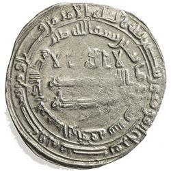 ABBASID: al-Ma'mun, 810-833, AR dirham (3.02g), al-Rafiqa, AH209. VF