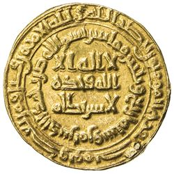 ABBASID: al-Mutawakkil, 847-861, AV dinar (4.24g), Marw, AH234. EF