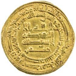 ABBASID: al-Mu'tamid, 870-892, AV dinar (4.08g), Misr, AH263. EF