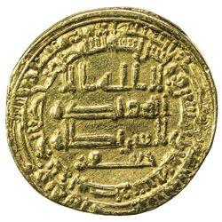ABBASID: al-Mu'tamid, 870-892, AV dinar (4.08g), Misr, AH258. VF